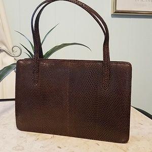 Vintage Lizard Skin Kelly Bag Excellent Cond.